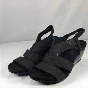 [180] Anne Klein Sport  Wedge Sandals - Black 5M